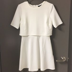 FOREVER21 Double Layer Cream Dress (S)